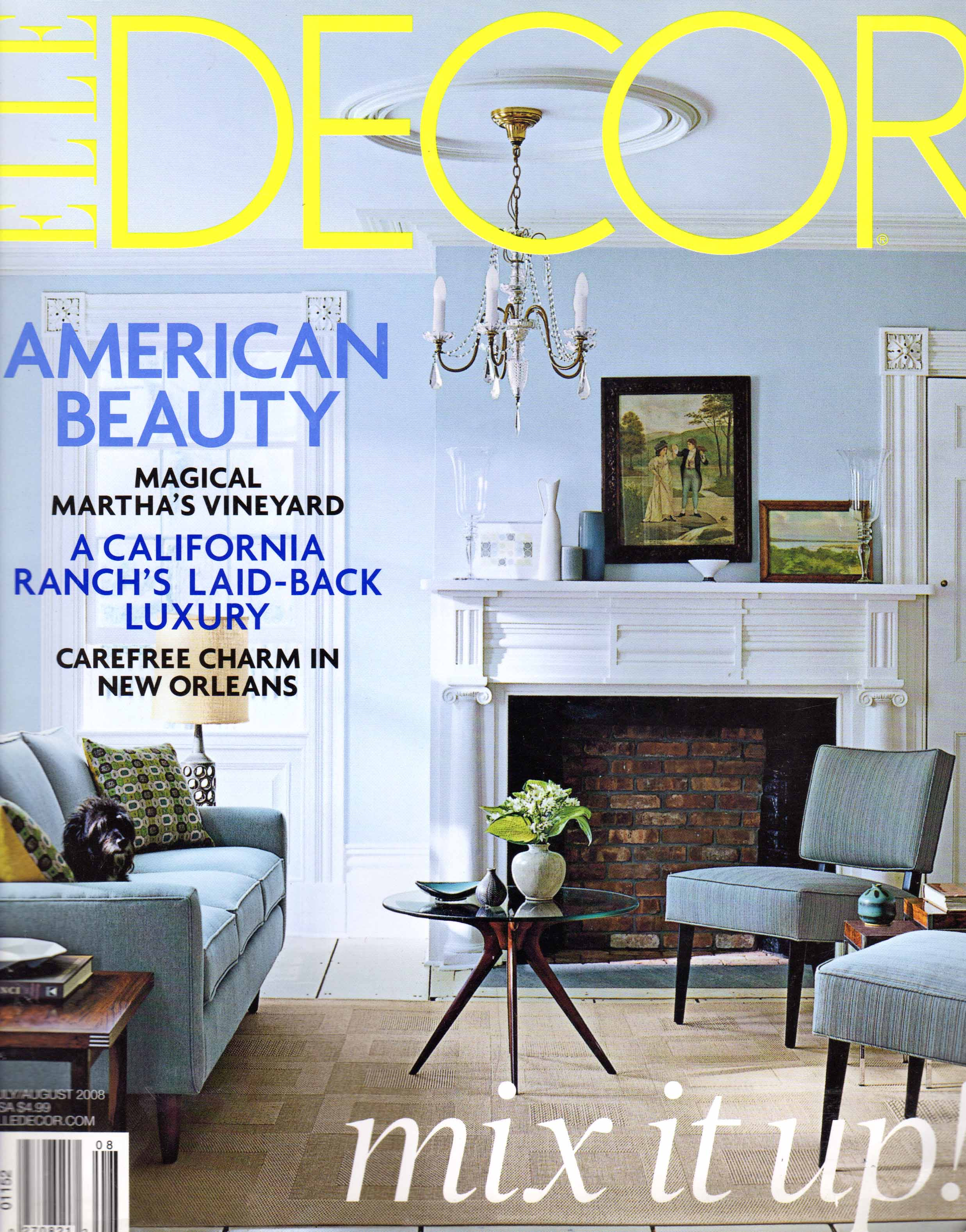 Elle Decor cover_2008-07-08